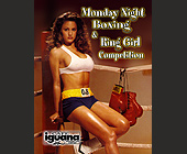 Monday Night Boxing and Ring Girl Competition - Cafe Iguana Graphic Designs