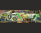 Land of Oz Thanksgiving Concert - Salvation Nightclub Graphic Designs
