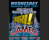 6th Annual Thanksgiving Eve Bash at Cameo - created November 1997