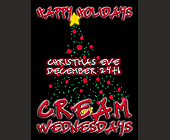 Happy Holidays Christmas Eve at Cream Wednesdays - created December 1997
