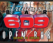 Fridays at Bar 609 - nightclub flyers Graphic Designs