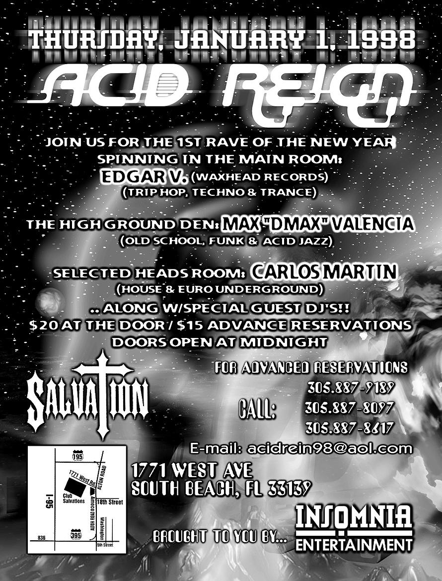 Acid Reign at Salvation