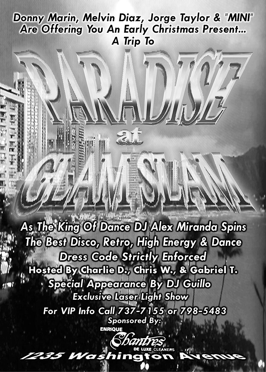 Paradise at Glam Slam