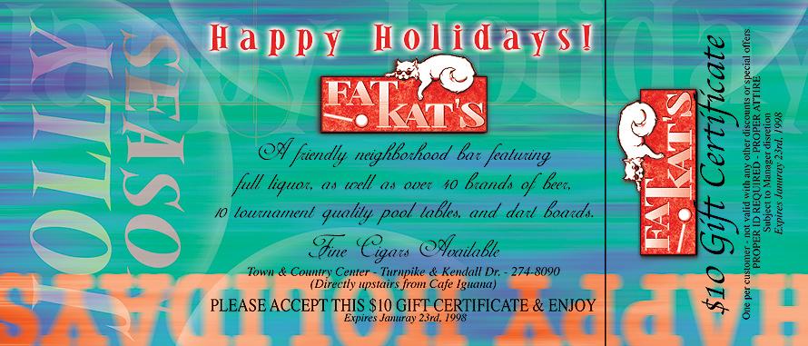 Happy Holidays from Fat Kats