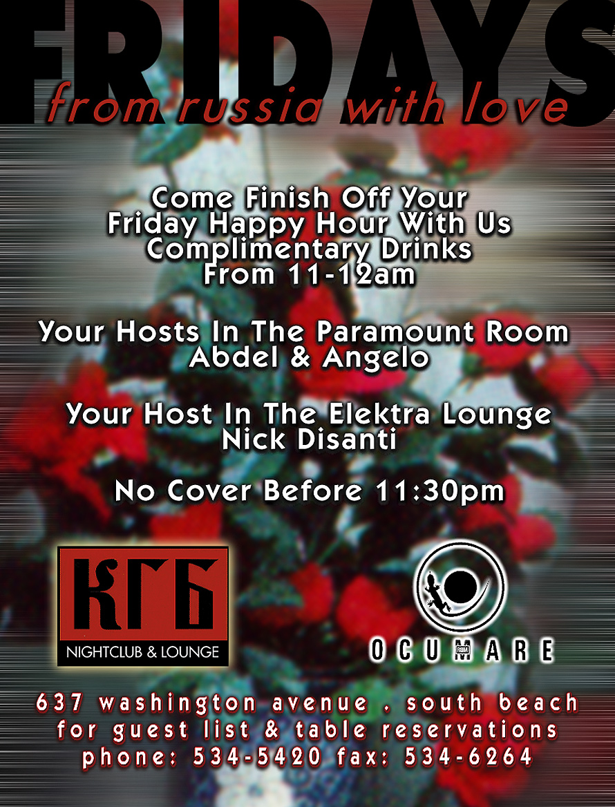 Fridays From Russia with Love at KGB Nightclub and Lounge