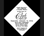 Invitation to Club 609 - created January 1998