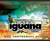 5th Anniversary Party at Cafe Iguana - tagged with abstract background
