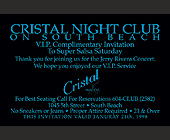 Cristal Nightclub on South Beach - tagged with Wine Glass