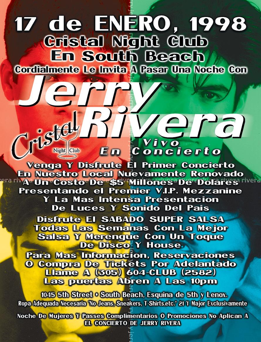 Jerry Rivera Live at Cristal Nightclub