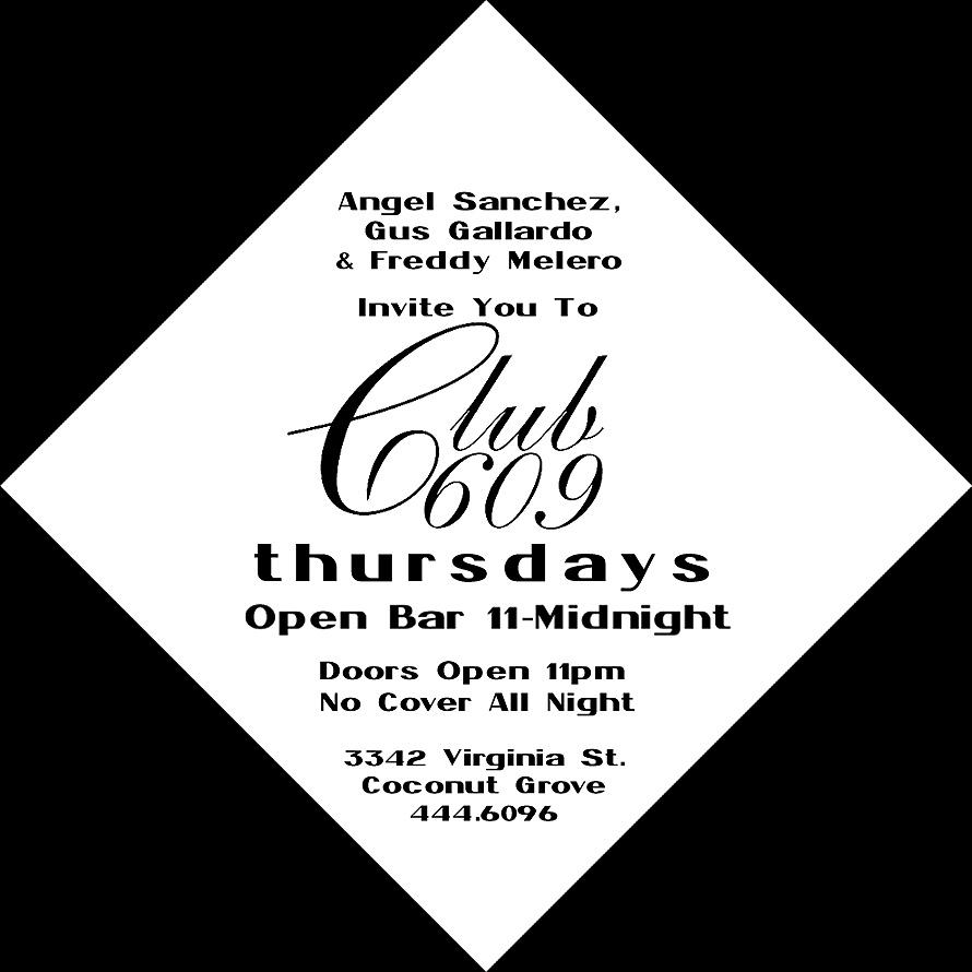 Thursdays at Club 609