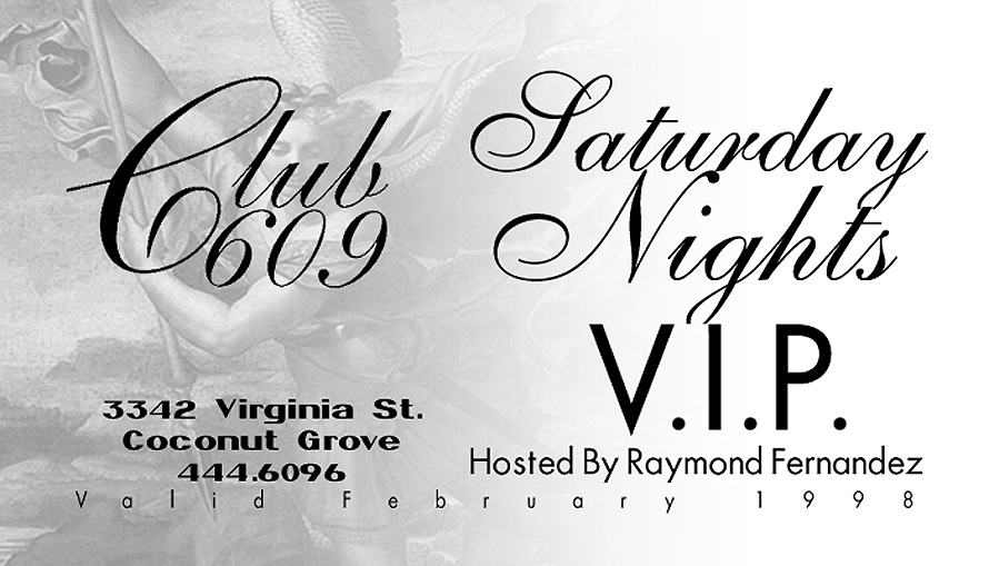 Saturday Nights VIP at Club 609
