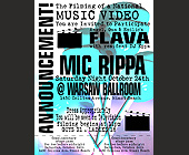 Flava Mic Rippa - tagged with abstract background
