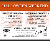 Halloween Weekend at Cristal Nightclub - created October 1998