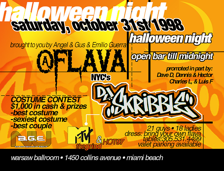 Halloween Night Flava at Warsaw with DJ Skribble