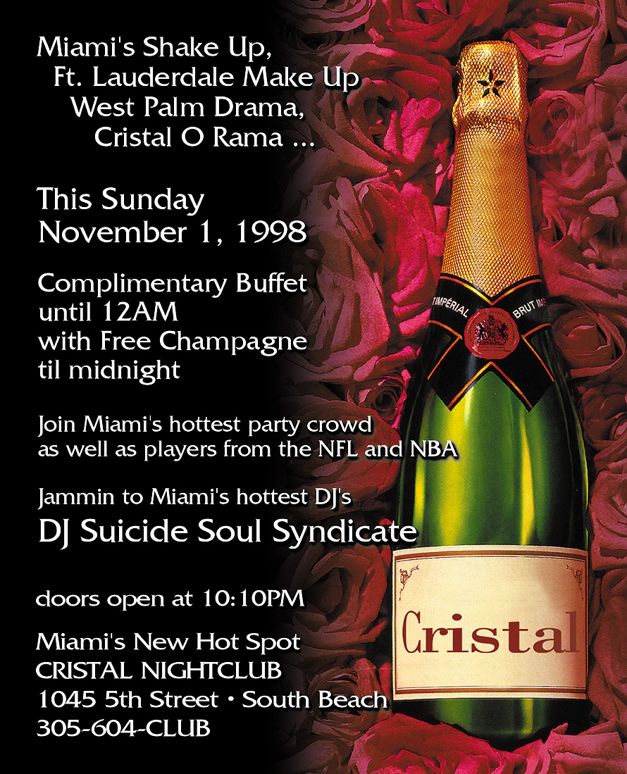 Cristal Grand Opening in Miami Beach