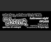 DJ Skribble Halloween Night at Flava - tagged with gray scale
