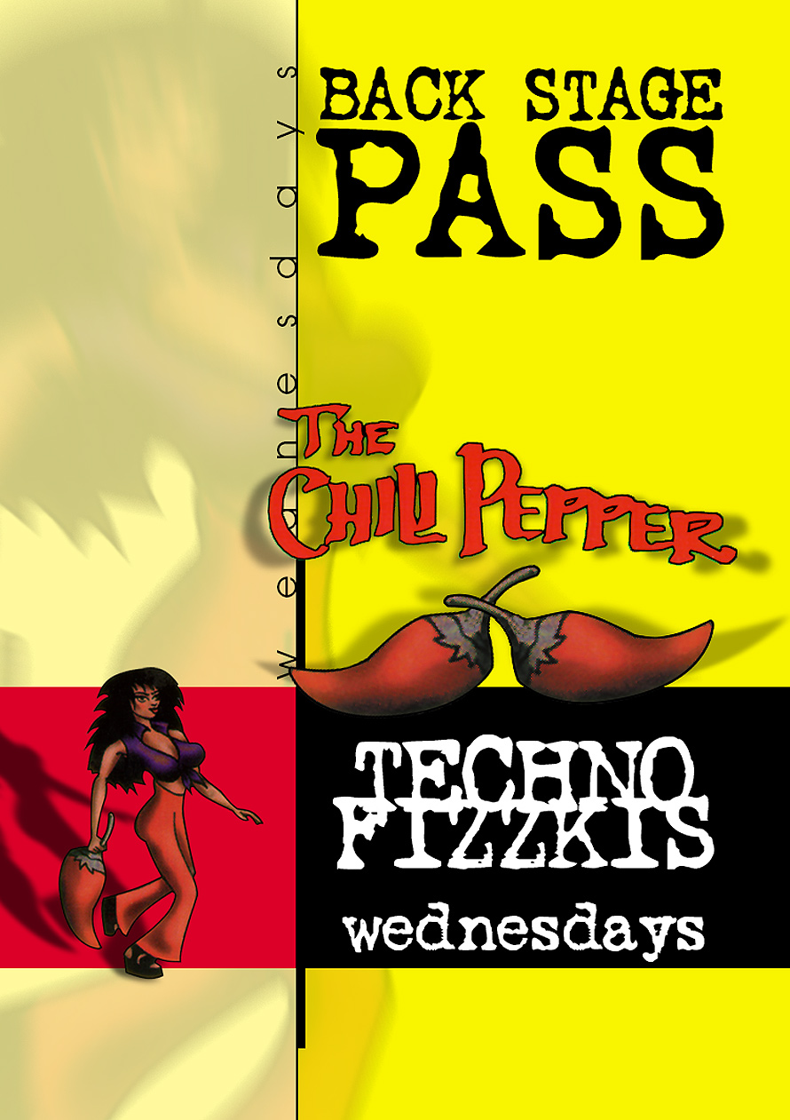 Techno Fizzkis Backstage Pass at The Chili Pepper