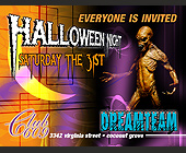 Halloween at Club 609 - 1313x1000 graphic design