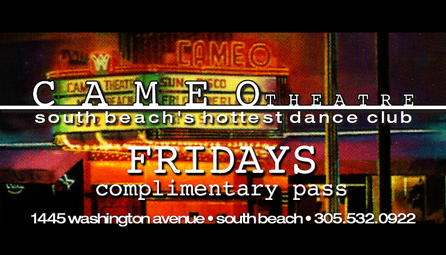Cameo Theater Complimentary Pass