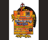 The Seventh Annual Thanksgiving Eve Bash at La Covacha - 1050x1400 graphic design