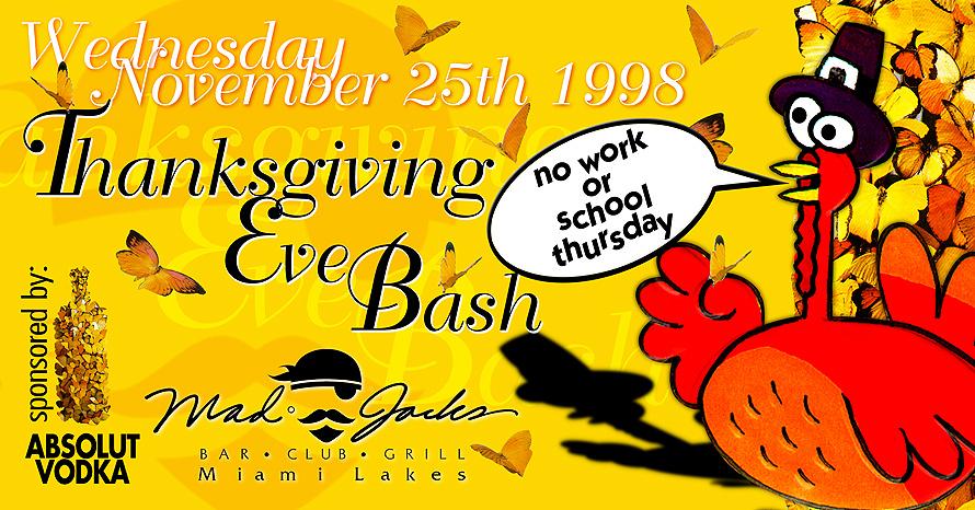 Thanksgiving Eve Bash at Mad Jacks