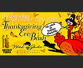 Thanksgiving Eve Bash at Mad Jacks - tagged with cartoon turkey