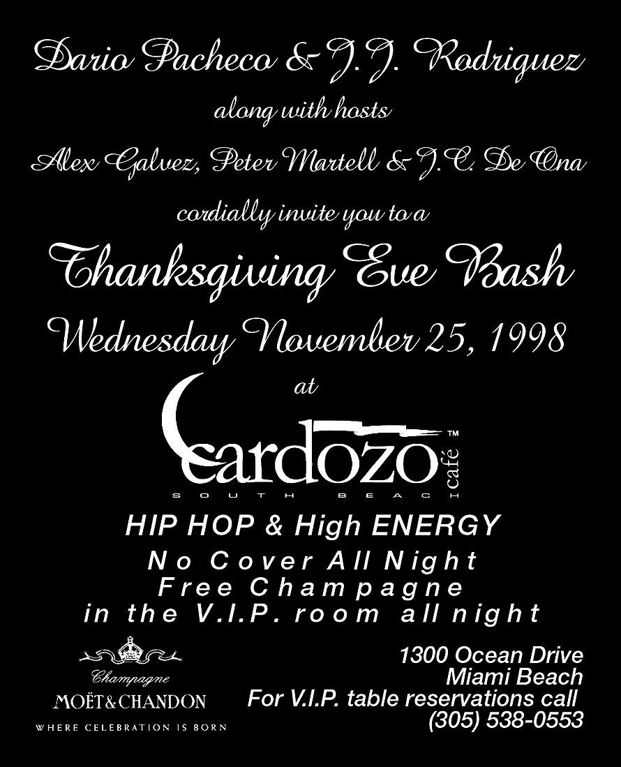 Thanksgiving at Cardozo