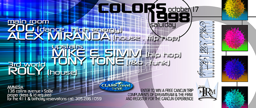 Colors 1998 at Amnesia Nightclub