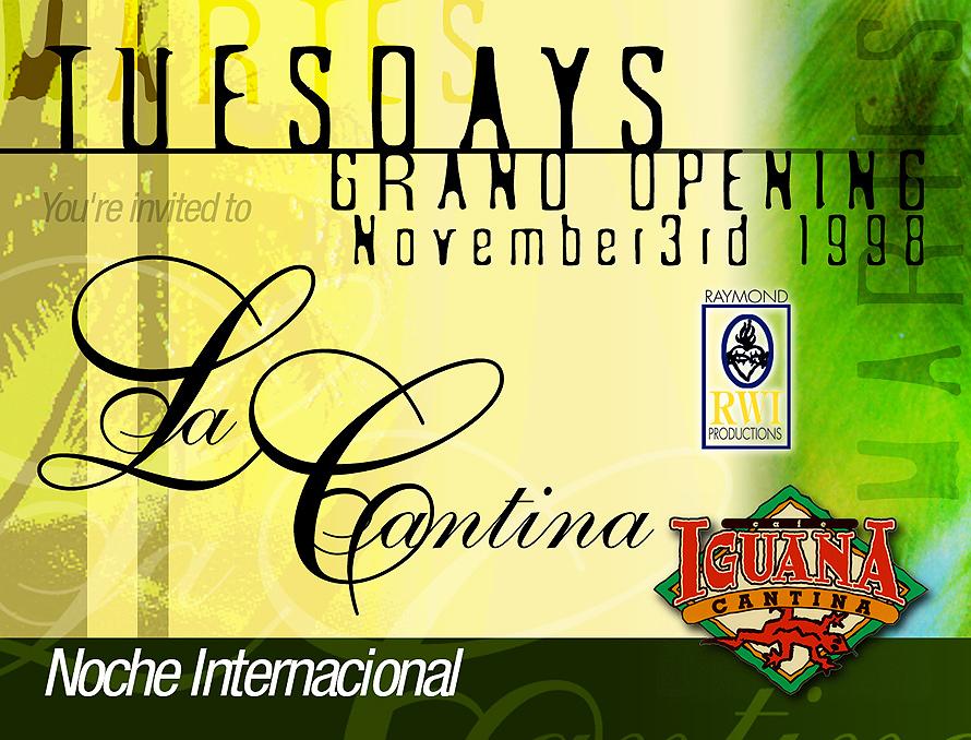 Grand Opening at Cafe Iguana