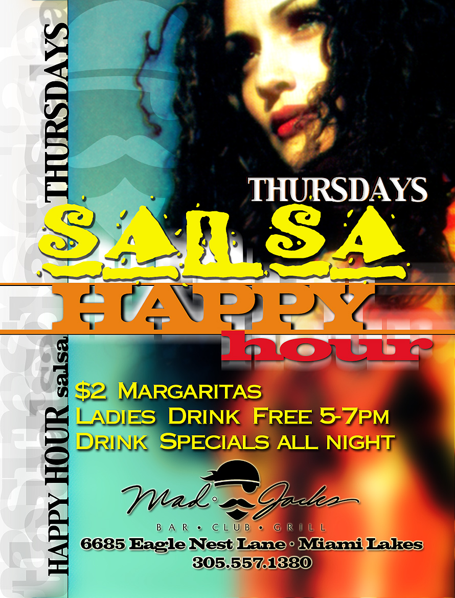 Fridays Happy Hour at Mad Jacks Bar and Grill
