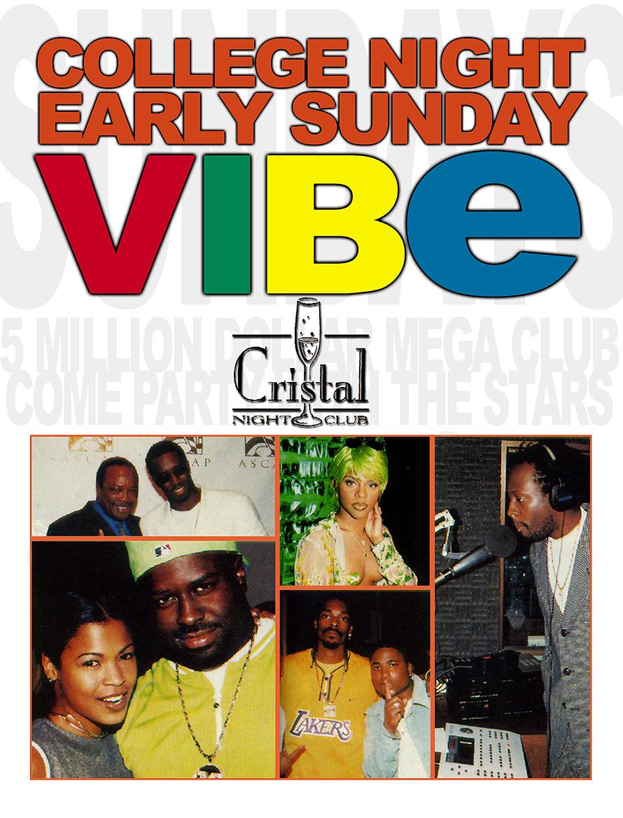College Night Early Sunday Vibe at Cristal Nightclub