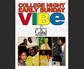 College Night Early Sunday Vibe at Cristal Nightclub - 1313x1000 graphic design