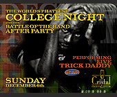 The World's Phattest College Night at Cristal Nightclub - 1313x1000 graphic design
