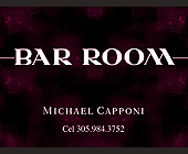 Bar Room South Beach Business Card - created November 03, 1998