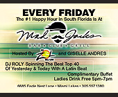 Mad Jacks Fridays Happy Hour - Mad Jacks Graphic Designs