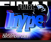 Final Hype at Amnesia - Amnesia Nightclub Graphic Designs
