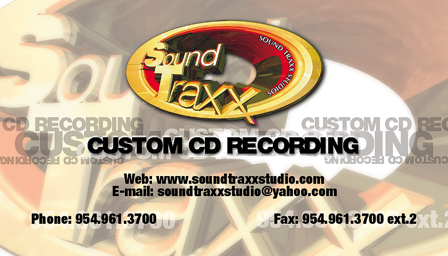 Sound Traxx Studios Custom CD Recording
