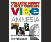 The World's Phattest College Night at Amnesia - Amnesia Nightclub Graphic Designs