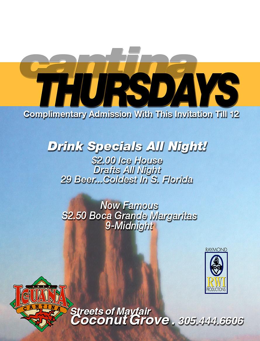 Cantina Thursdays at Cafe Iguana