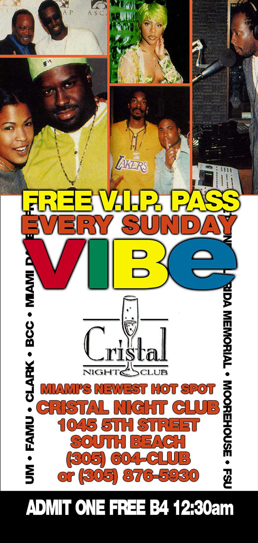 Free VIP Pass at Cristal Nightclub