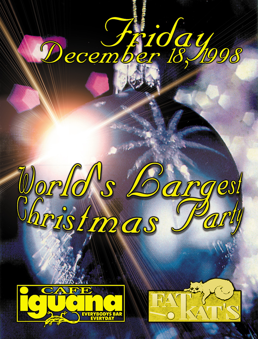 World's Biggest Christmas Party at Cafe Iguana