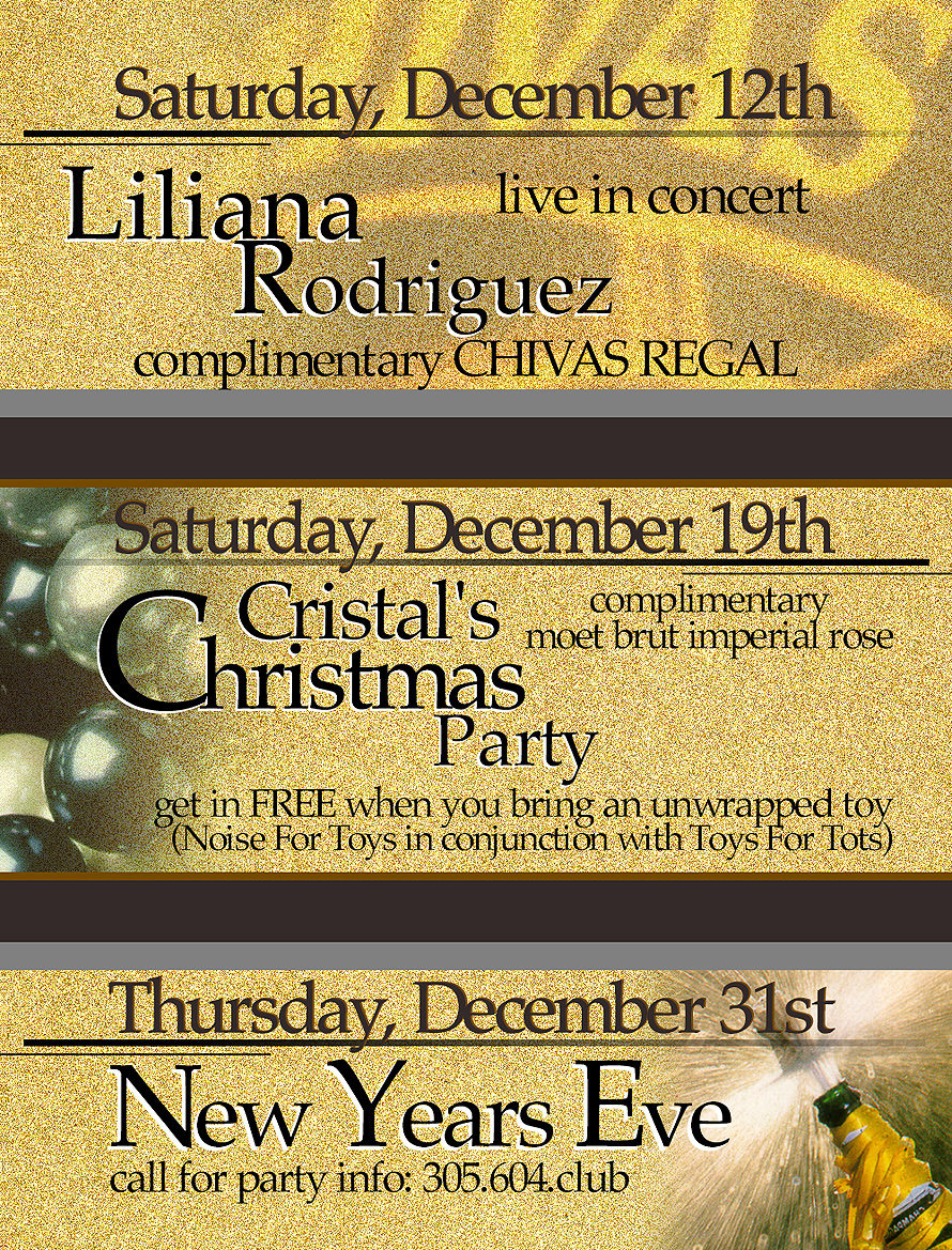 Cristals Christmas Party at Cristal Nightclub