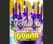 Saturdays at Cafe Iguana - tagged with abstract background