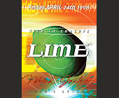 Live in Concert Lime at Mad Jacks - tagged with abstract background