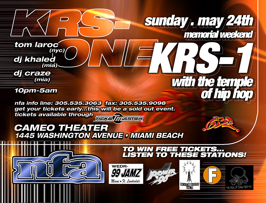 KRS-One at Cameo