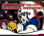 Sunday Memorial Weekend - tagged with cartoon character