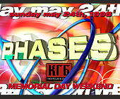 Phases Event at KGB Nightclub - 1313x1000 graphic design