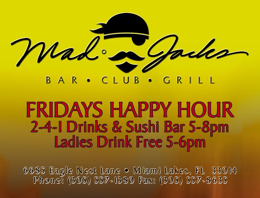 Friday Happy Hour at Mad Jacks