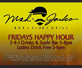Friday Happy Hour at Mad Jacks - tagged with 1 drinks