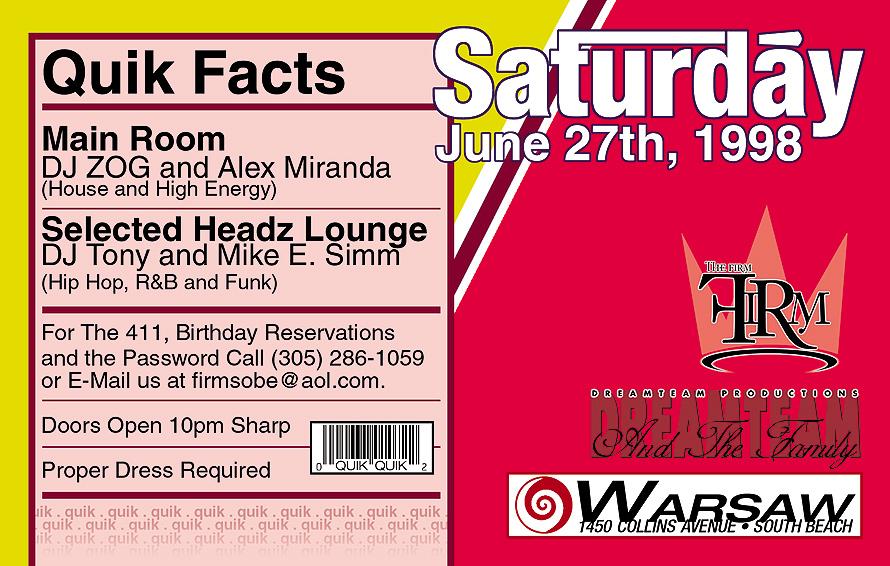 Saturday at Warsaw Ballroom